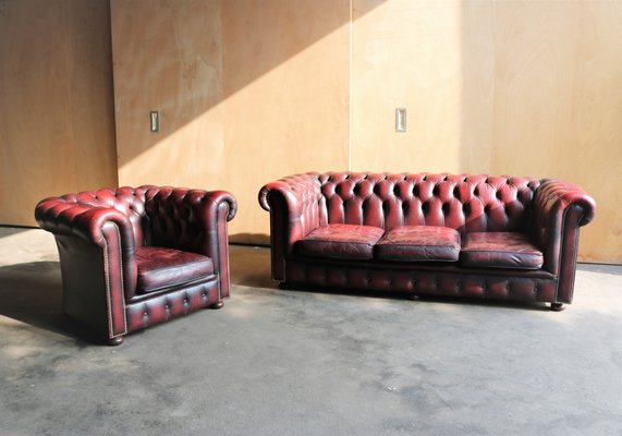 Vintage Chesterfield Sofa Club Chair 1960s For Sale At Pamono