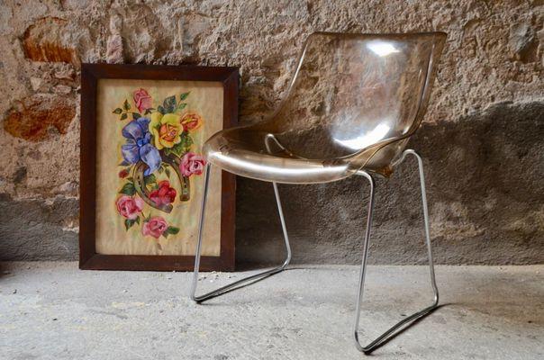 Vintage Perspex Chairs, 1970s, Set of 2