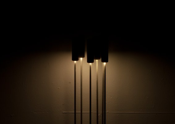Reed Ix Steel Light Sculpture From Early