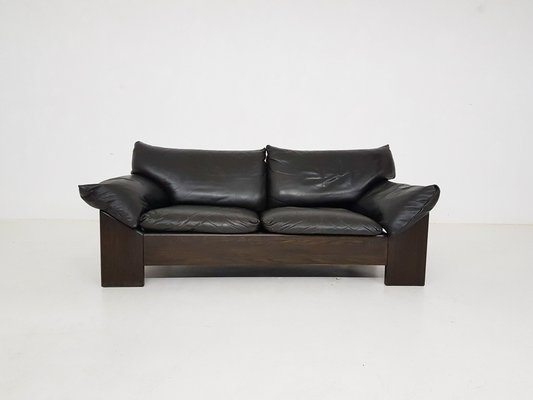 Oak Leather 2 Seater Sofa From Leolux
