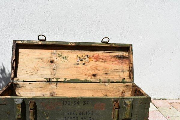 Vintage Wooden Ammunition Box 1970s