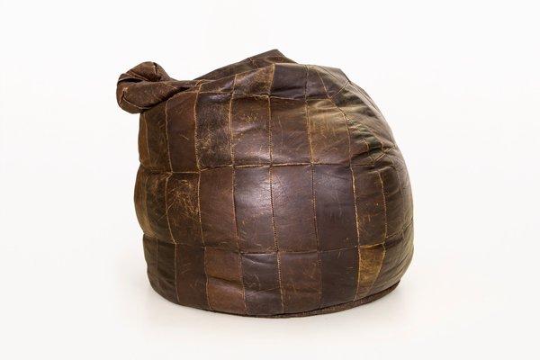 Pouf in pelle di de Sede, Svizzera, anni \'70 in vendita su Pamono
