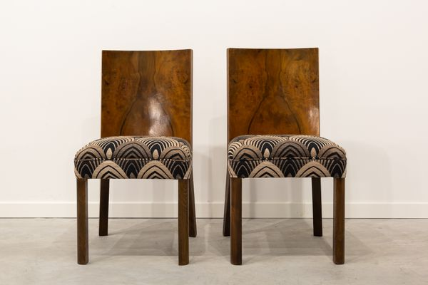 French Art Deco Dining Chairs 1930s Set Of 6 For Sale At Pamono