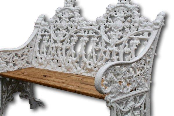 Panchine Da Giardino In Ghisa : Panchina da giardino a due posti in ghisa metà xix secolo in