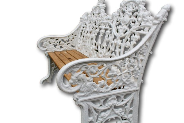 Superb Cast Iron Two Seat Garden Bench 1860S Gamerscity Chair Design For Home Gamerscityorg