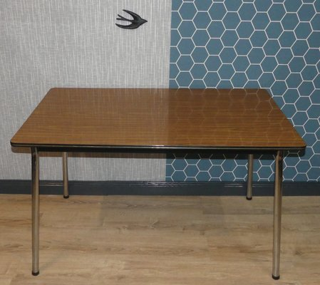 Chrome Formica Kitchen Table 1960s