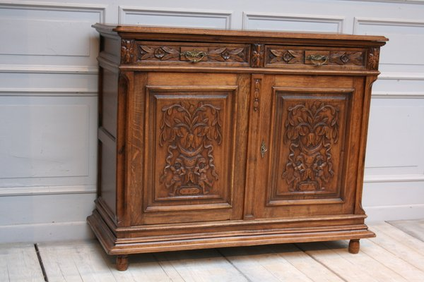 Antique French Oak Sideboard For