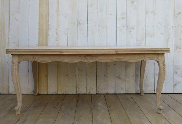 Tavoli Da Pranzo In Legno Allungabili : Tavolo da pranzo allungabile in legno di quercia sbiancato anni 50