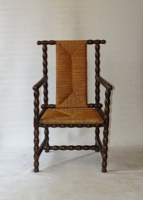 Antiker Jugendstil Stuhl Aus Gedrechseltem Holz Von Josef Zotti Fur Prag Rudniker Korbwaren