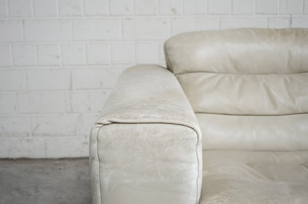 Swell Vintage Ds105 Ecru White Leather Sofa From De Sede Ibusinesslaw Wood Chair Design Ideas Ibusinesslaworg