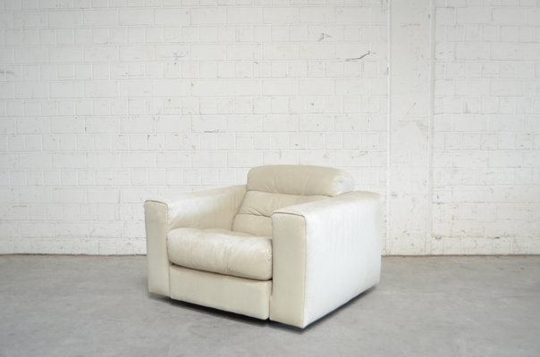 Vintage DS105 Ecru White Leather Chair from de Sede