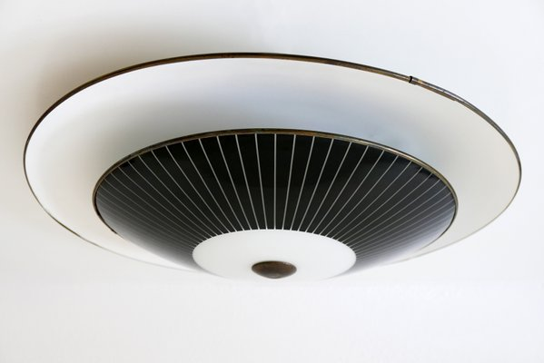 Large Mid Century German Modern Flush Mount Or Wall Lamp From Hillebrand 1950s For Sale At Pamono