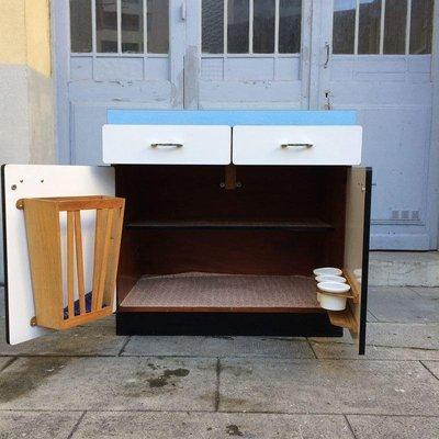Mobiletto da cucina in formica, anni \'60 in vendita su Pamono