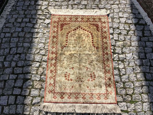 Turkish Silk Rug, 1970s 1