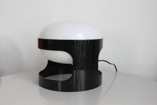 Lampe de bureau kd27 noire par joe colombo pour kartell 1967 en
