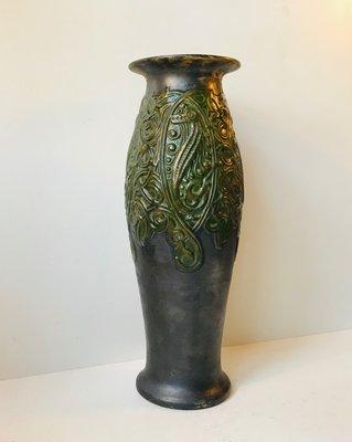 Art Nouveau No  1046 Terracotta Seahorse Vase, 1910s
