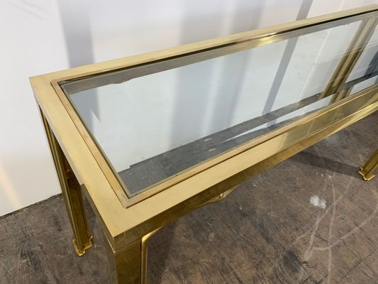 Brass Swan Console Table From Mastercraft 1970s For Sale At Pamono