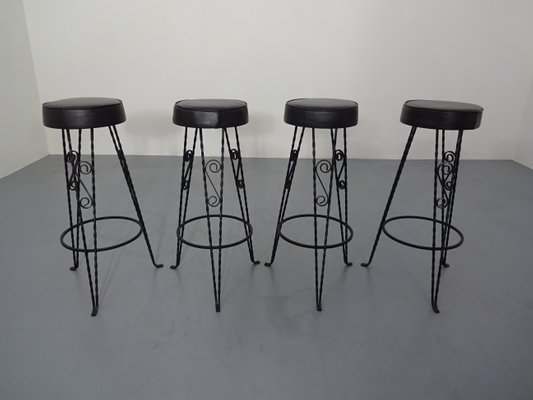 Fantastic Vintage German Barstools 1960S Set Of 4 Forskolin Free Trial Chair Design Images Forskolin Free Trialorg