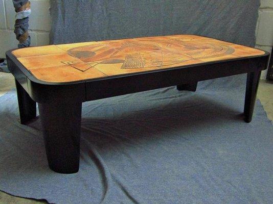 Credenza Con Maioliche : Tavolino da caffè cubista con piastrelle vallauris di raymond