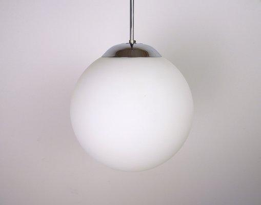 Lampade In Vetro Anni 70 : Lampada a sospensione in vetro opalino e vetro anni in