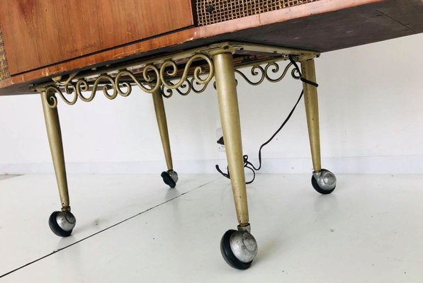 Vintage Italian Radio-Record Player Table from Philips, 1940s