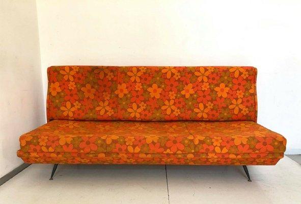 Surprising Vintage Italian Orange Sofa 1960S Uwap Interior Chair Design Uwaporg