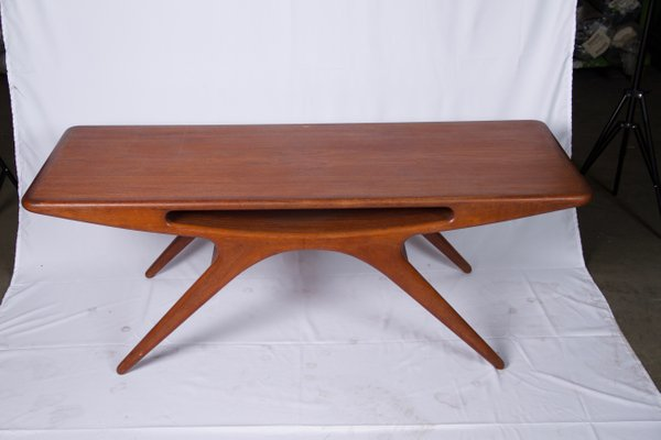 Smile Coffee Table By Johannes Andersen For Cfc Silkeborg 1950s For