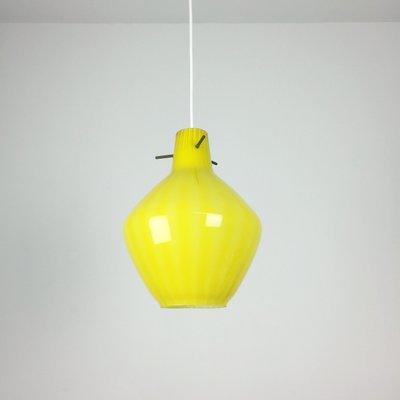 Italian Yellow Murano Gl Pendant Light 1960s
