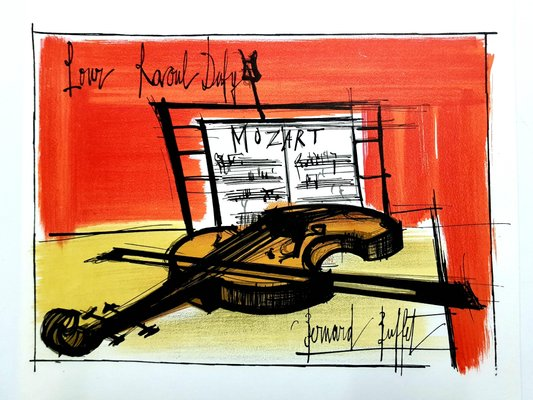 Astonishing Homage To Dufy Lithograph By Bernard Buffet 1965 Home Interior And Landscaping Ferensignezvosmurscom