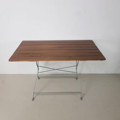Tavolo Da Esterno Pieghevole.Tavolo Da Giardino Pieghevole Vintage Con 4 Sedie Germania Anni