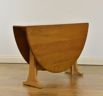 Large Vintage Elm Drop-Leaf Dining Table from Ercol, 1970s