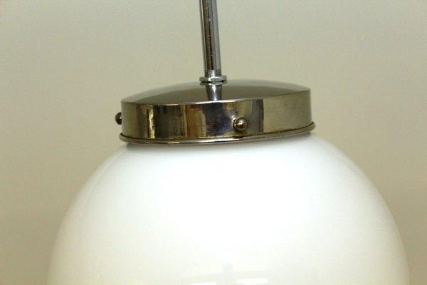 1 of 5 chrome 7.9 white glass globe Ceiling- or Wall Lights Pretty vtg