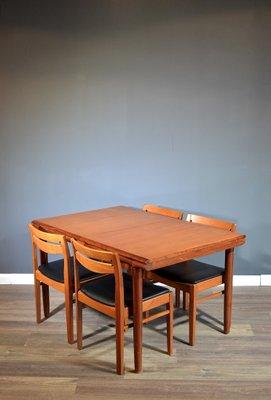 Amazing Mid Century Danish Dining Table 4 Chairs 1960S Creativecarmelina Interior Chair Design Creativecarmelinacom