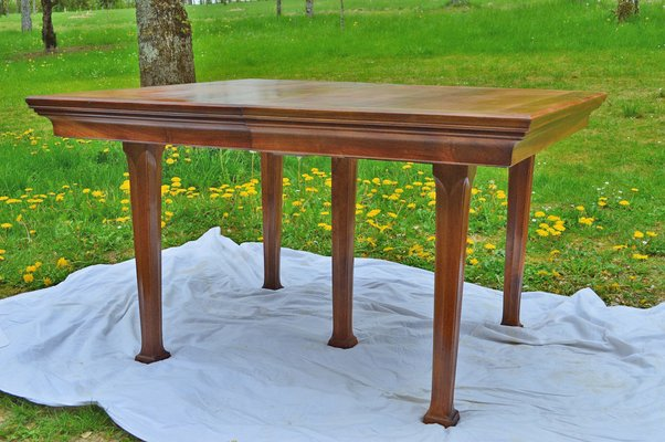 Pleasing Antique Art Nouveau French Walnut Dining Table 1900S Home Interior And Landscaping Staixmapetitesourisinfo