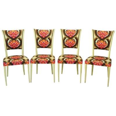 Set Vintage mit Holz1960er4er aus Stühle Gestell wm8nN0