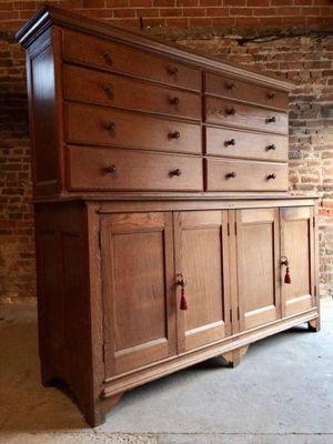 Victorian Skilful Manufacture Antique Oak Large Sideboard