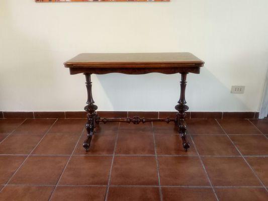Tavolo Antico Rettangolare.Tavolo Rettangolare Antico In Stile Vittoriano In Radica Di Noce
