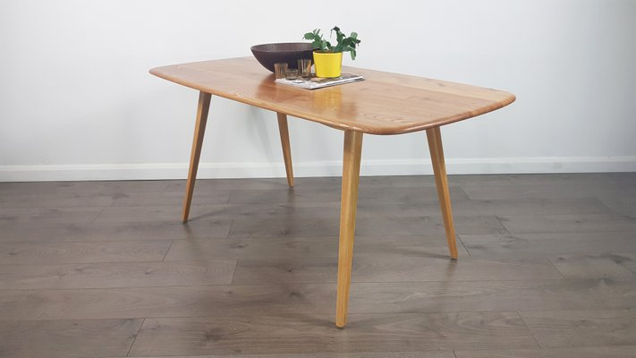 Excellent Mid Century Plank Dining Table By Lucian Ercolani For Ercol Download Free Architecture Designs Salvmadebymaigaardcom