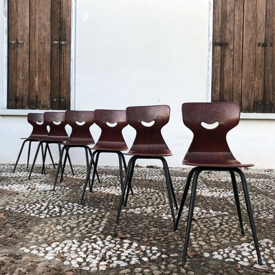 Sedie Legno E Ferro.Sedie Da Pranzo Vintage In Legno E Ferro Di Adam Stegner Per Pagholz