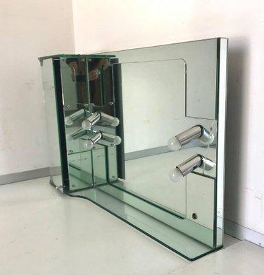 Miroir de Salle de Bain Vintage Rectangulaire de Fontana Arte, 1970s