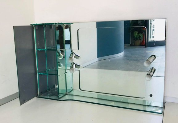 Specchio Bagno Anni 70.Specchio Da Bagno Vintage Rettangolare Di Fontana Arte Anni 70