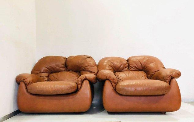 Stupendous Mid Century Italian Leather Lounge Chair 1980S Uwap Interior Chair Design Uwaporg
