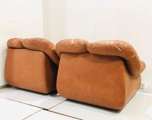Remarkable Mid Century Italian Leather Lounge Chair 1980S Uwap Interior Chair Design Uwaporg