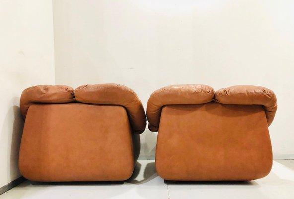 Fabulous Mid Century Italian Leather Lounge Chair 1980S Uwap Interior Chair Design Uwaporg