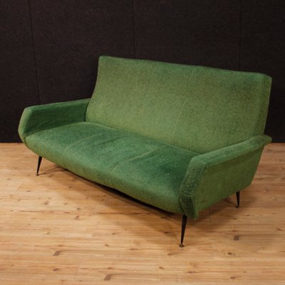 Italian Green Sofa with Metal Legs, 1960s for sale at Pamono