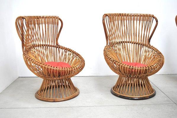 Sedie In Vimini.Sedie In Vimini Di Franco Albini Per Vittorio Bonacina 1951 Set Di 4