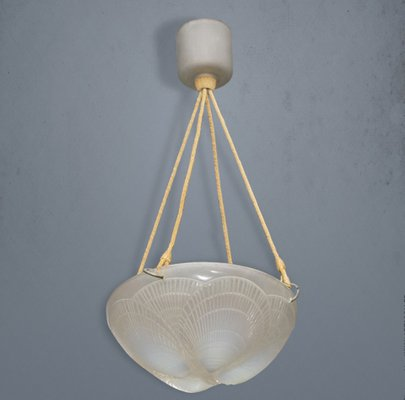 Opalescent Glass Shell Ceiling Lamp By Rene Lalique 1921 For Sale At Pamono