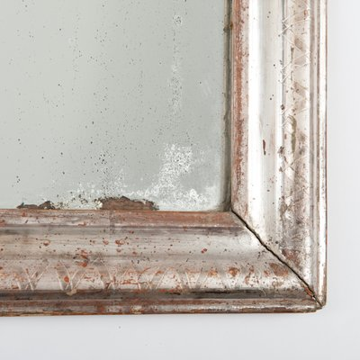 Antique French Louis Philippe Mercury Glass Mirror 4