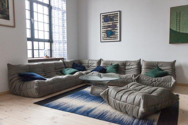 Pamono & Leather Togo Living Room Set by Michel Ducaroy for Ligne Roset 1987