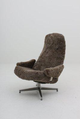Incredible Mid Century Scandinavian Contourett Roto Swivel Chair By Alf Svensson For Dux Ibusinesslaw Wood Chair Design Ideas Ibusinesslaworg